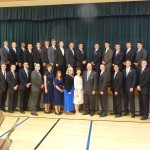 The entire group of new missionaries that arrived with Austin