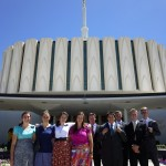 Austin and MTC group at Provo Temple