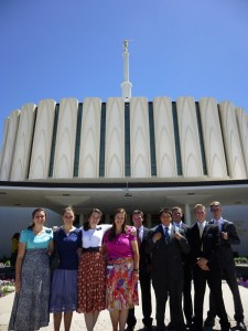 Austin's MTC group at the Provo Temple again.