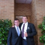Austin and his first companion and trainer, Elder Argyle.