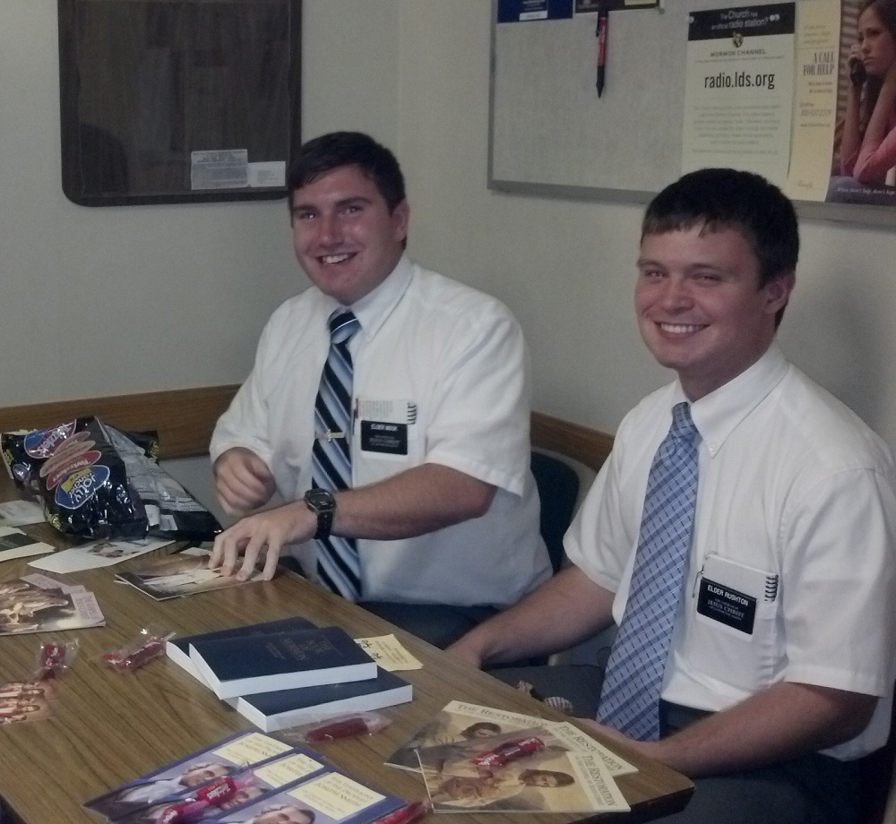 Elder Austin Rushton and Elder Mock