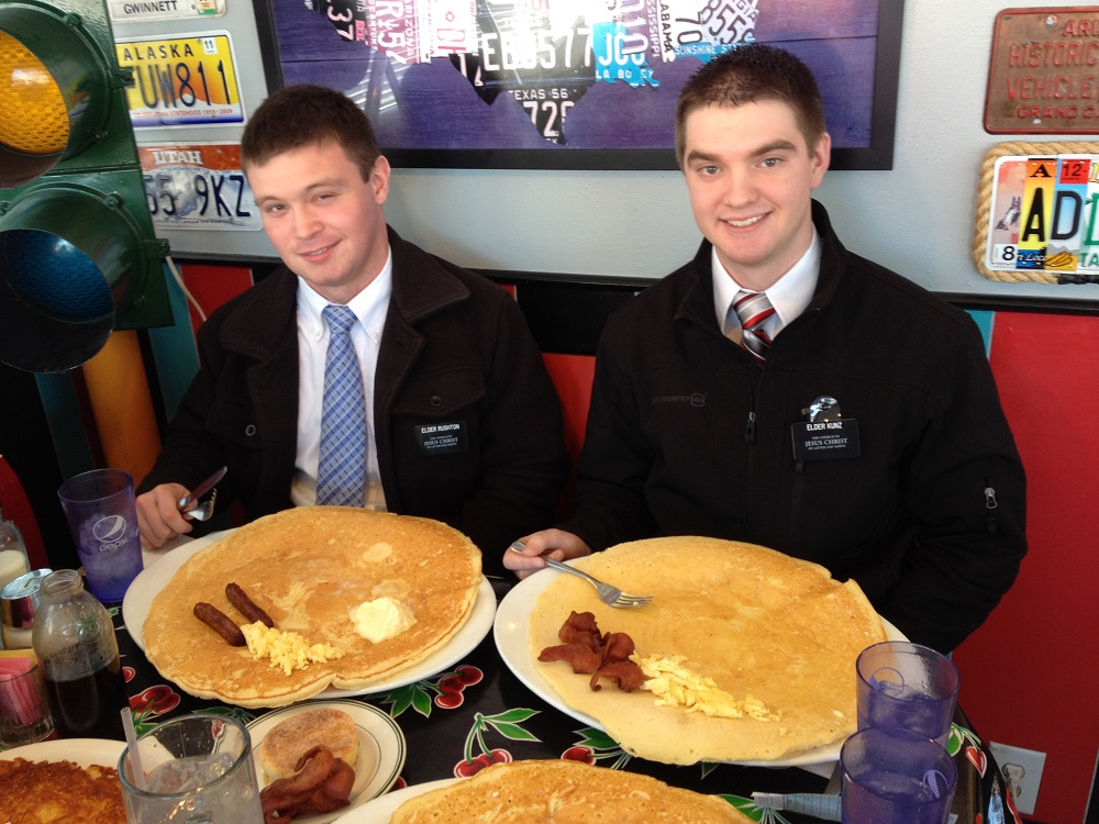 Austin Rushton and Elder Kunz Giant Pancake