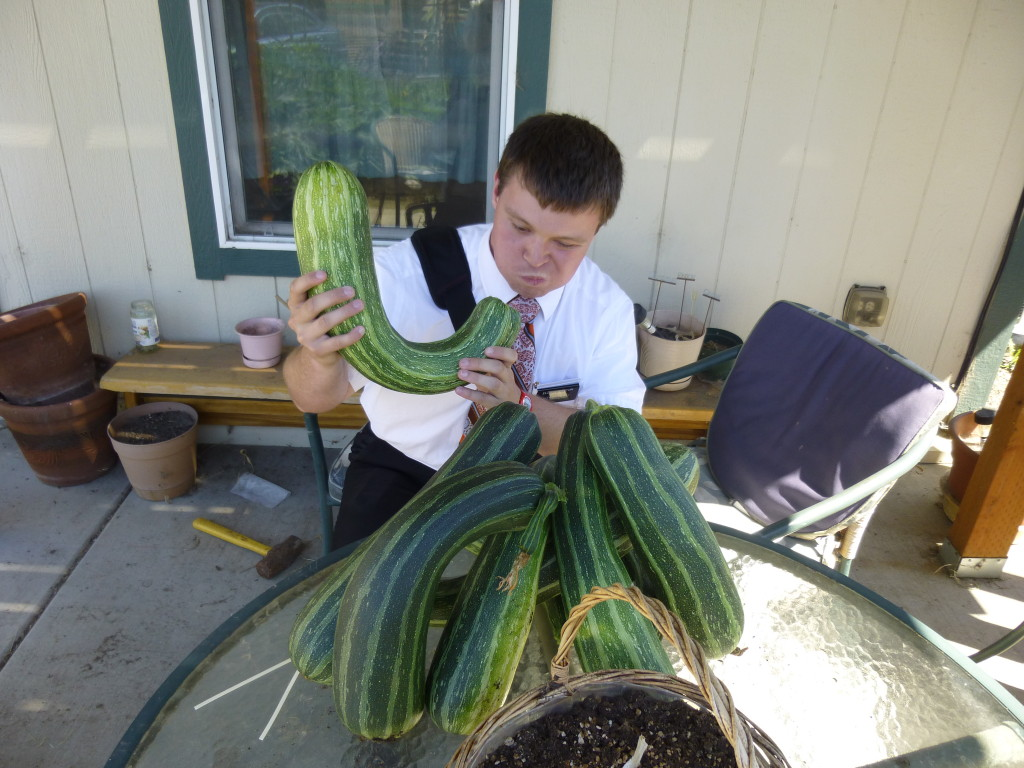 Elder Austin Rushton with squash
