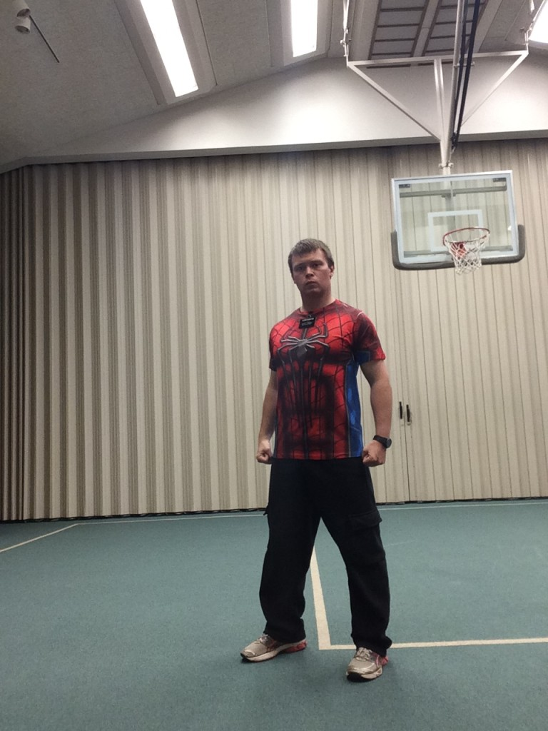 Elder Austin Rushton as spiderman