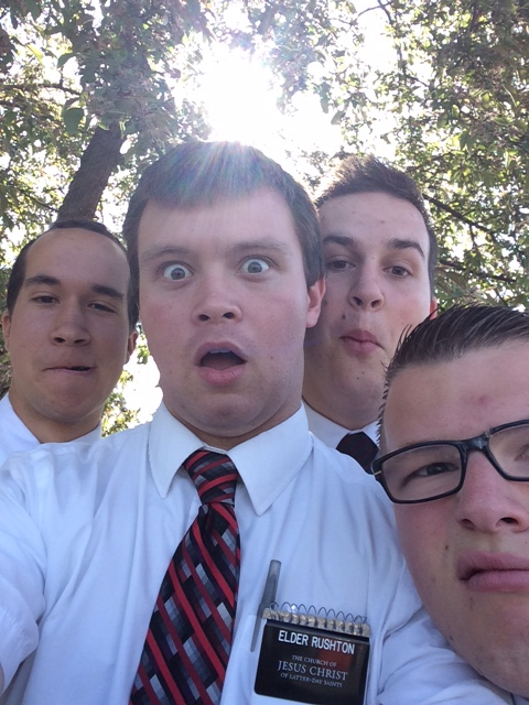 Elder Austin Rushton and companions