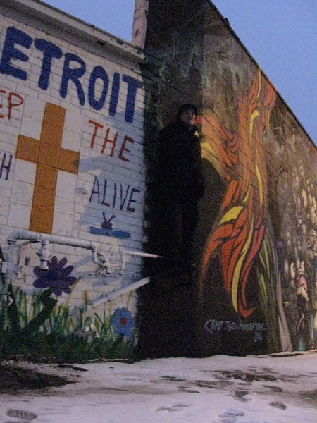 Graffiti wall in Detroit