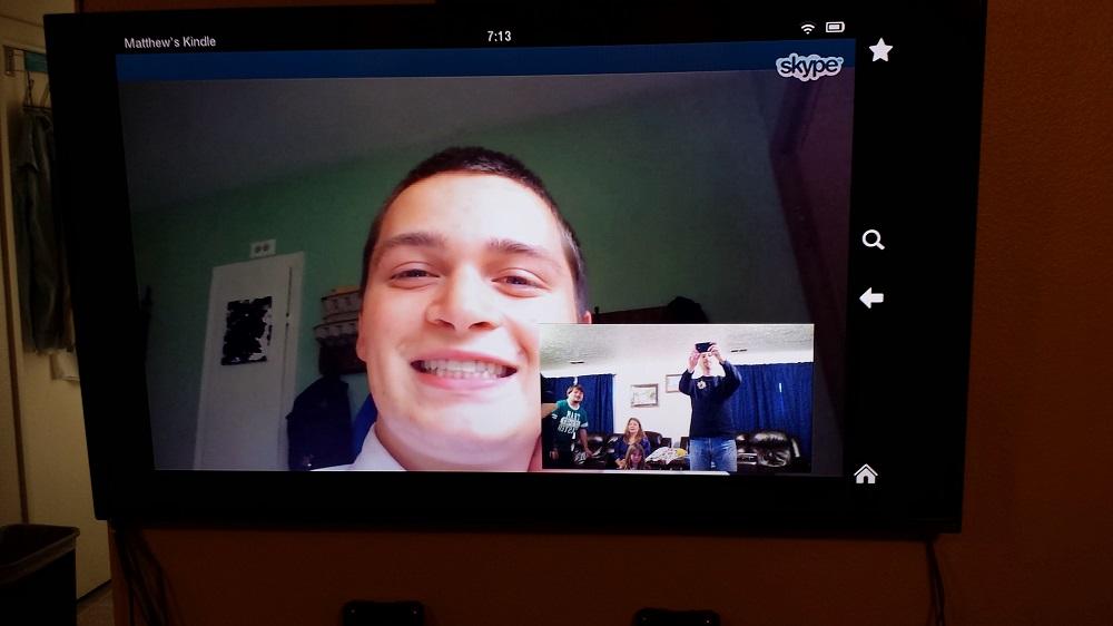 Elder Skyler Rushton Skype'ing
