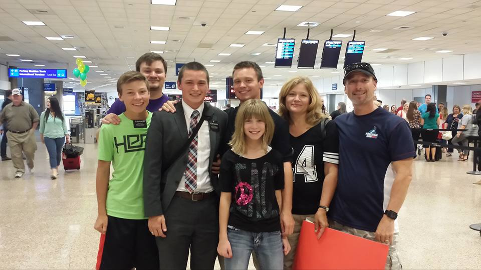 Elder Skyler Rushton and family